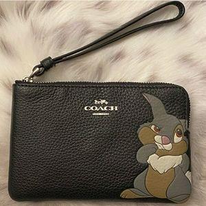 Coach x Thumper Disney Wristlet